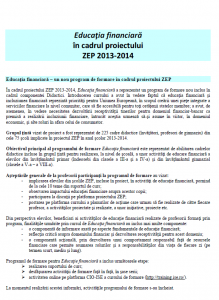 Raport final curs educație financiară. Campania Națională UNICEF Hai la școală!