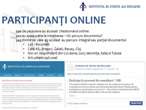 Minutele atelierelor de consultare - document de politici educationale in domeniul curriculumului