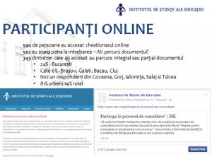 Minutele atelierelor de consultare - document de politici educationale in domeniul curriculumului