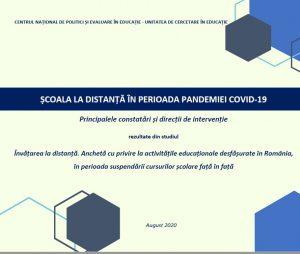 Școala la distanță în perioada pandemiei Covid-19