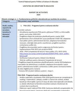 Raport de activitate UCE - 2020