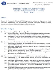 Obiective strategice multianuale de cercetare (2021-2025)